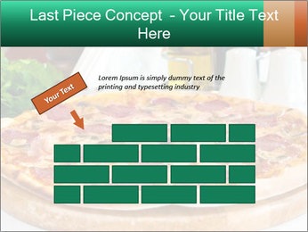 Pizza with salami PowerPoint Template - Slide 46