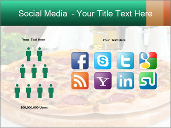 Pizza with salami PowerPoint Template - Slide 5