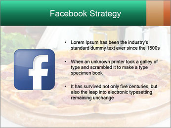 Pizza with salami PowerPoint Template - Slide 6
