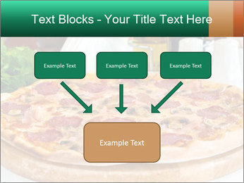 Pizza with salami PowerPoint Template - Slide 70