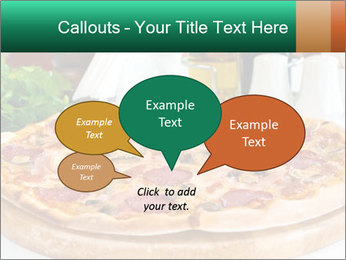 Pizza with salami PowerPoint Template - Slide 73