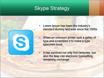 Pizza with salami PowerPoint Template - Slide 8