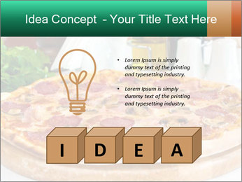 Pizza with salami PowerPoint Template - Slide 80