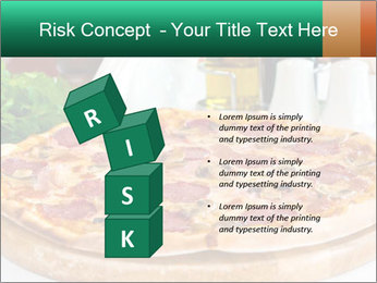 Pizza with salami PowerPoint Template - Slide 81