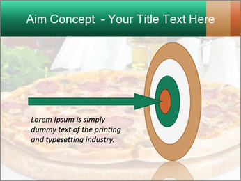 Pizza with salami PowerPoint Template - Slide 83