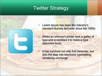 Pizza with salami PowerPoint Template - Slide 9