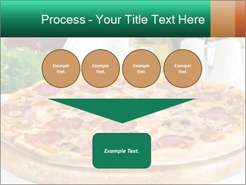 Pizza with salami PowerPoint Template - Slide 93