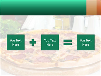 Pizza with salami PowerPoint Template - Slide 95