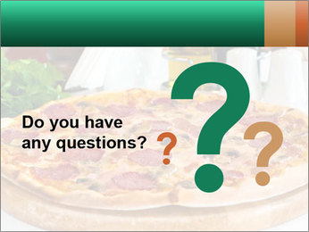 Pizza with salami PowerPoint Template - Slide 96
