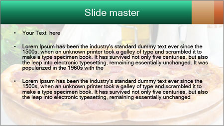 Pizza with salami PowerPoint Template - Slide 2