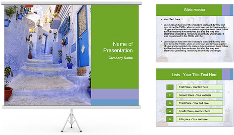 Street in medina PowerPoint Template