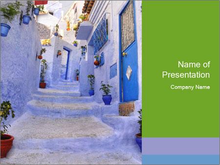 Street in medina PowerPoint Templates