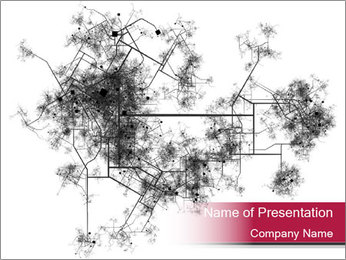 Map of a City PowerPoint Template