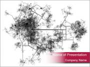 Map of a City PowerPoint Templates