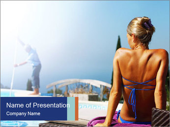 Woman relaxing PowerPoint Template - Slide 1