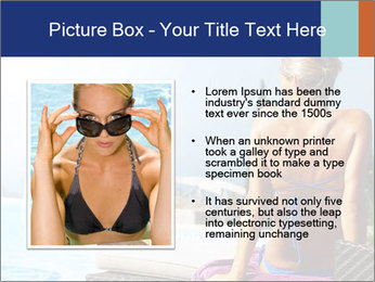 Woman relaxing PowerPoint Template - Slide 13