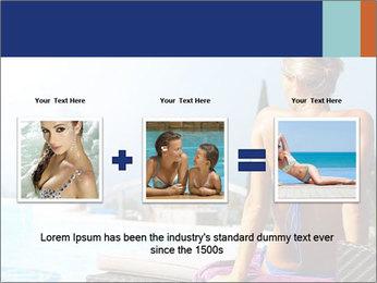 Woman relaxing PowerPoint Template - Slide 22