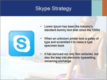 Woman relaxing PowerPoint Template - Slide 8
