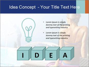 Woman relaxing PowerPoint Template - Slide 80
