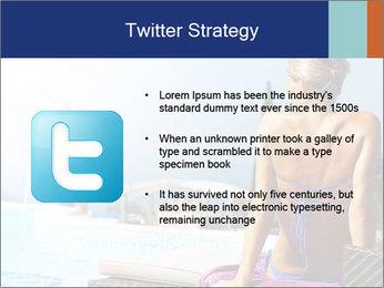 Woman relaxing PowerPoint Template - Slide 9
