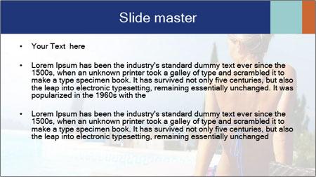 Woman relaxing PowerPoint Template - Slide 2