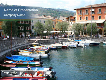 Lake Garda Marina PowerPoint Template