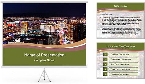 World class hotels and casino PowerPoint Template
