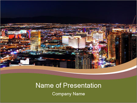 World class hotels and casino PowerPoint Templates