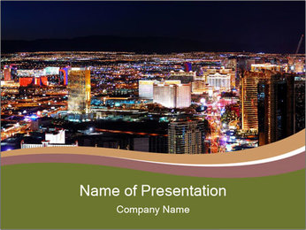 World class hotels and casino PowerPoint Template - Slide 1