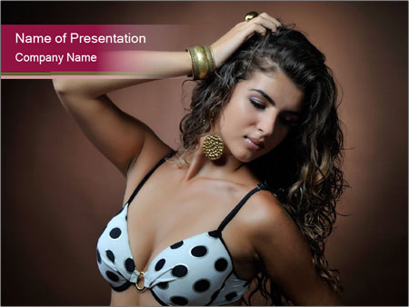Pretty young woman PowerPoint Templates