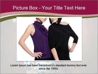 Pretty young woman PowerPoint Template - Slide 16
