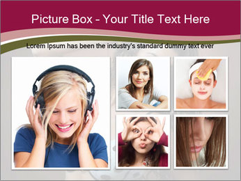 Pretty young woman PowerPoint Template - Slide 19