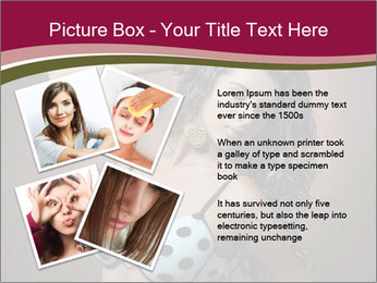 Pretty young woman PowerPoint Template - Slide 23