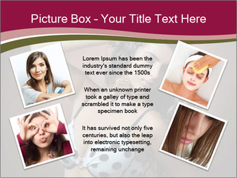 Pretty young woman PowerPoint Template - Slide 24