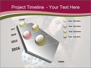 Pretty young woman PowerPoint Template - Slide 26