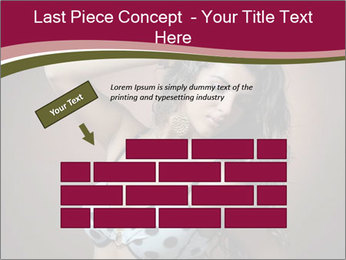 Pretty young woman PowerPoint Template - Slide 46