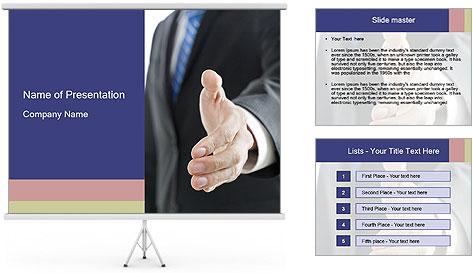 Handshake PowerPoint Template