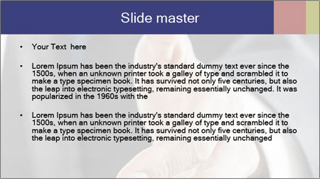 Handshake PowerPoint Template - Slide 2