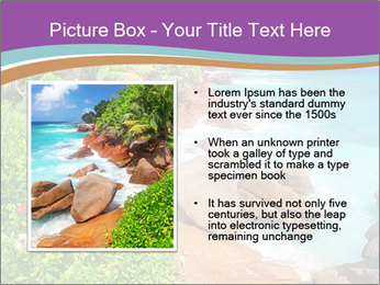 Palms fringe a stunning Beach PowerPoint Template - Slide 13