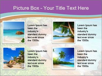 Palms fringe a stunning Beach PowerPoint Template - Slide 14