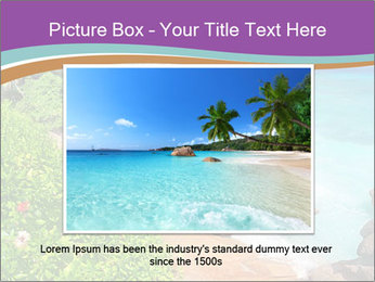 Palms fringe a stunning Beach PowerPoint Template - Slide 15