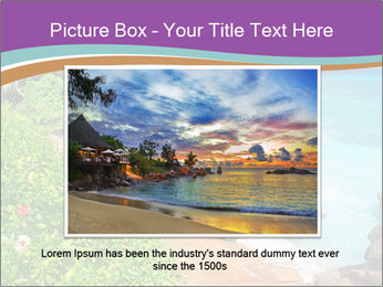 Palms fringe a stunning Beach PowerPoint Template - Slide 16
