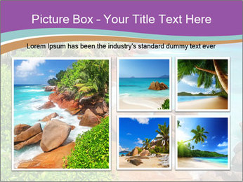 Palms fringe a stunning Beach PowerPoint Template - Slide 19
