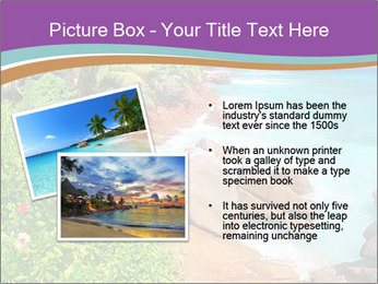 Palms fringe a stunning Beach PowerPoint Template - Slide 20