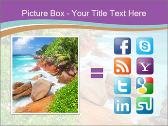Palms fringe a stunning Beach PowerPoint Template - Slide 21