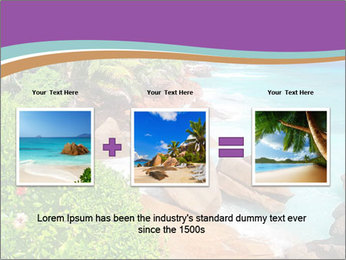 Palms fringe a stunning Beach PowerPoint Template - Slide 22
