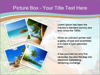 Palms fringe a stunning Beach PowerPoint Template - Slide 23