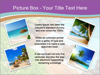 Palms fringe a stunning Beach PowerPoint Template - Slide 24
