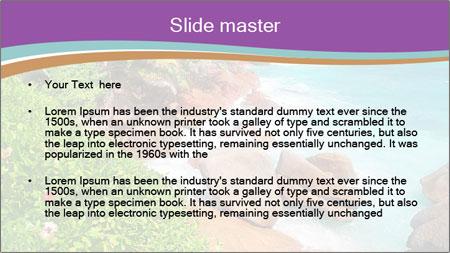 Palms fringe a stunning Beach PowerPoint Template - Slide 2