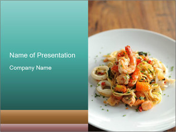 Seafood PowerPoint Template - Slide 1